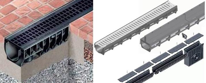 Lijnafwatering in vezelversterkt beton en hoogwaardig kunststof | Logus GWW | Drainage